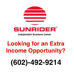 Extra Income Opportunity Sunrider www.SunHealthAz.com 602-492-9214 SunHealthAz@gmail.com