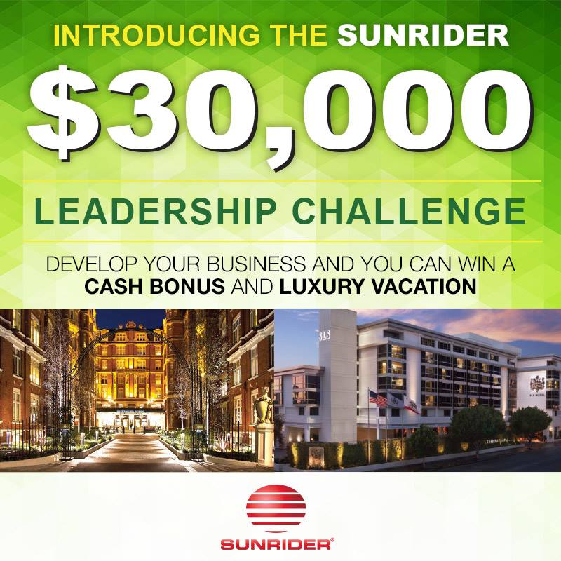 $30,000 Sunrider Leadership Challenge